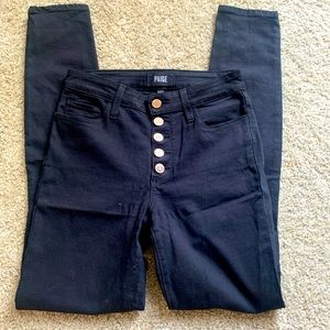 PAIGE black pants with gold Buttons size 25